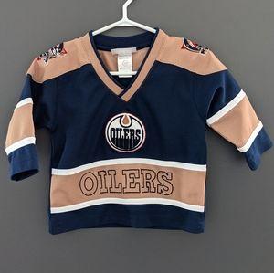 Edmonton Oilers blue & gold long sleeved jersey